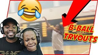 Reacting To Trent's Middle School B-Ball Tryouts!