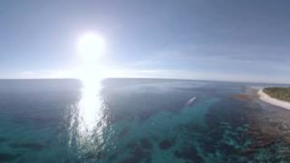 Lady Elliot Island 360 VR from the air with Mantas