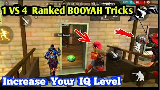 SOLO Vs SQUAD ranked match Booyah tips in freefire tamil / freefire 1 vs 4 tips tamil