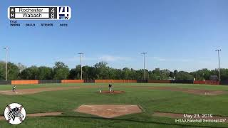 Boys Baseball IHSAA Sectional #37 (Wabash)Rochester vs Wabash
