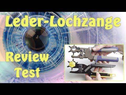 Test Review / Lochzange Leder Revolverzange mit Lochpfeifen Gürtelstanze