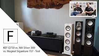 Lautsprecher Vergleich - KEF Q750 vs. Magnat Signature 707 vs. Monitor Audio Silver 300!