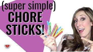 DIY Chore Sticks! Chore Chart Alternative For Kids! | Jordan From Millennial Moms