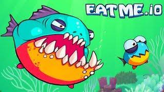 СЪЕШЬ МЕНЯ! Веселая рыбная андроид игра EATME.IO похожая на СЛИЗАРИО Видео для детей от Cool GAMES