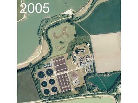 Kläranlage Paderborn - Im Wandel der Zeit - Luftbildervergleich im Film