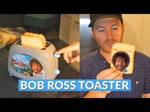 Experience The Joy of Toasting with this Bob Ross Toaster