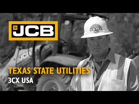 JCB at work for Texas State Utilities - USA