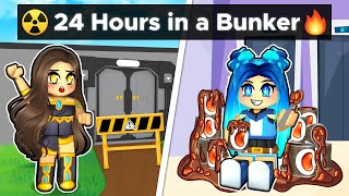 We Spent 24 Hours In A Roblox Bunker!