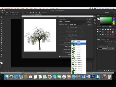 38-Adobe PhotoShop CC|Filter Render - tree