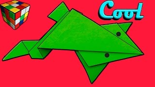 Как сделать ЛЯГУШКУ из бумаги. Лягушка оригами своими руками. Поделки из бумаги
