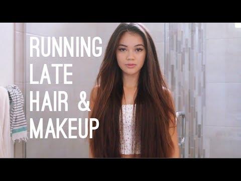 Video Running Late Hair & Makeup | viviannnv