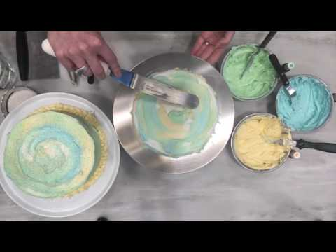 How to Decorate a Watercolor Cake