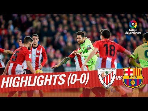 Download Highlights Athletic Club vs FC Barcelona (0-0) HD Mp4 3GP Video and MP3