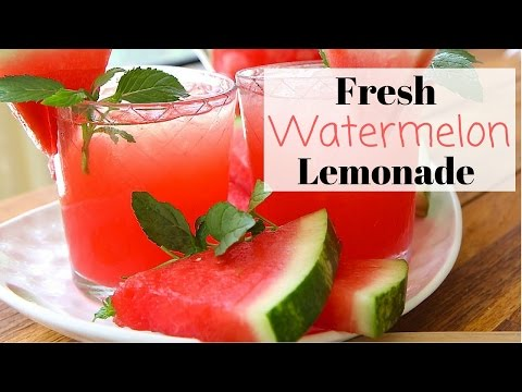 Video Fresh Watermelon Lemonade Recipe ~ Summer Drinks!
