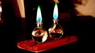 Making a Green Flame Candles from two old bulbs