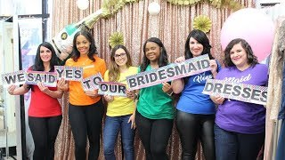 ALL SIZES BRIDESMAIDS DRESS TRY-ON + MEET MY BRIDESMAIDS