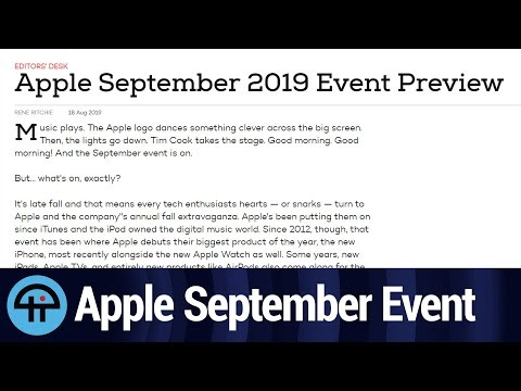 Apple 2019 September iPhone Event Preview