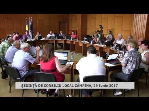 Ședința Consiliului Local Câmpina din 29 iunie 2017