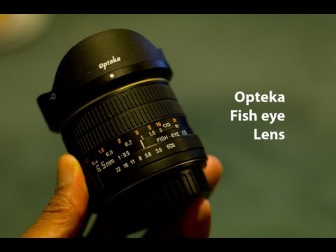Opteka 6.5mm fisheye lens for Canon unboxing and reivew.