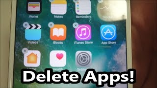 iPhone 7 How to Delete Apps iOS 10 (& Newer)