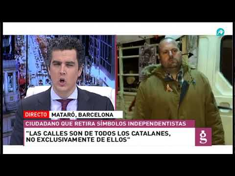 Entrevista a Santiago Pulido, el español que limpia las calles de Mataró de lazos amarillos