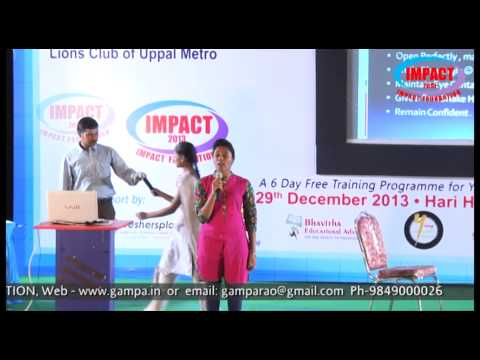 Interview Skills| Aasrita |TELUGU IMPACT Hyd Dec 2013