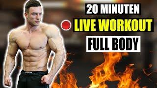 LIVE WORKOUT: Extremes 20 Min. HIIT Workout für Zuhause ohne Geräte!