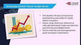 E-ticarette İhracat Devlet Teşvikleri