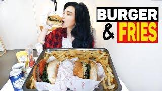 BURGER AND FRIES Mukbang | Eating Show