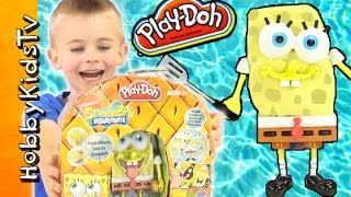 Play-Doh SPONGEBOB SQUAREPANTS Classic Toy! Box Open Fun Review HobbyFrog HobbyKidsTV
