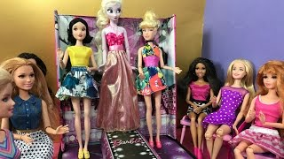 Fashion Show! Elsa Anna Barbie & Disney Princess Runway! Fashion Catwalk + Disney Princess Style!