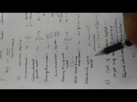 Sfm CMA paper 14 capital budgeting formulas part 1