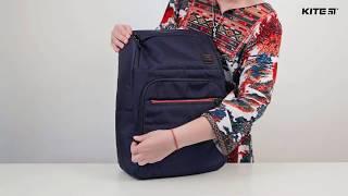 """Pюкзак деловой Kite&More K18-1021L-2 от компании Интернет-магазин """"Радуга"""" - школьные рюкзаки, канцтовары, творчество - видео"""