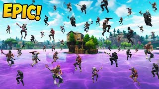 *100 PLAYERS* LAND NEW LOOT LAKE! - Fortnite Funny Fails and WTF Moments! #328