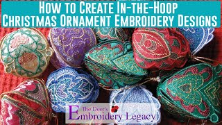 How To Create In-the-Hoop Christmas Ornament Embroidery Designs