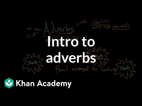 What is an adverb    Intro to adverbs  video    Khan Academy