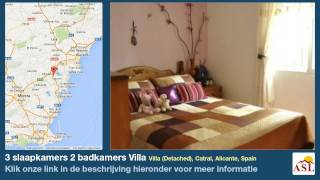 preview picture of video '3 slaapkamers 2 badkamers Villa te Koop in Villa (Detached), Catral, Alicante, Spain'