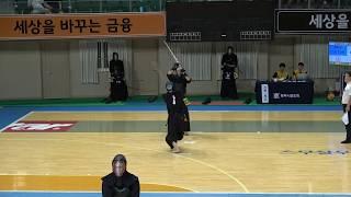 2019 단별검도대회 남자 3단부 1회전 - 오재명 vs 성열한 [검도V] kendov