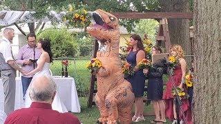 Maid Of Honour Dressed As Dinosaur