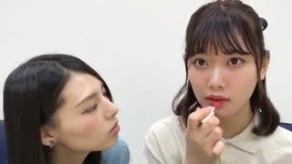相楽伊織&伊藤純奈どレズ疑惑シーンSHOWROOM20180606
