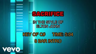 Elton John   Sacrifice (Karaoke)