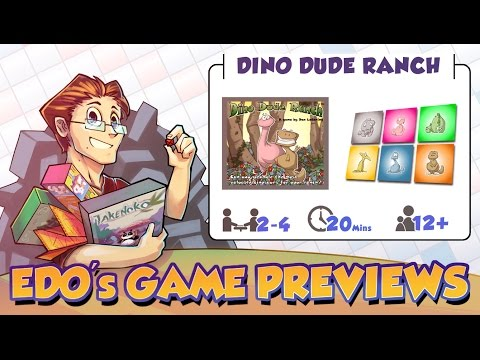 Edo's Dino Dude Ranch Board Game Review (KS Preview)