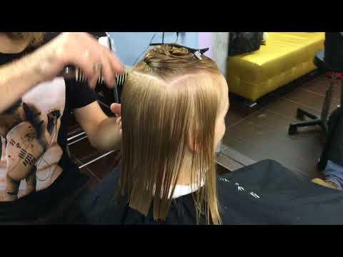 Стрижка на тонкий волос. Коммерческая стрижка на тонкий волос. Технология выполнения.