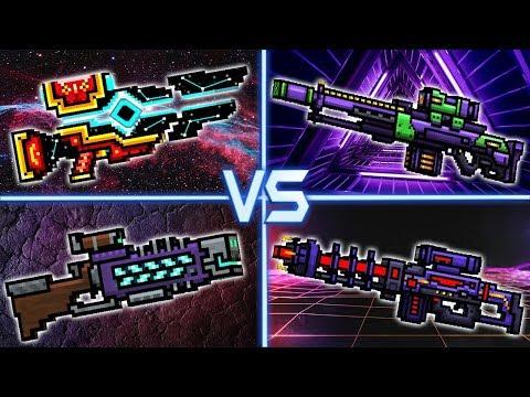 Black Hole VS Deadsman Rifle VS Eva VS Supercharged Rifle - Pixel Gun 3D