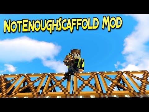 NotEnoughScaffold Mod | Trabaja Con Estilo Con Estos Andamios  | Minecraft 1.12.2  | Review Español