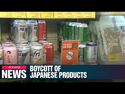 Boycott of Japanese goods widening in S. Korea amid trade spat