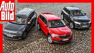 SUVs aus dem VW-Konzern (2018) Mittelklasse-SUVs im Vergleich
