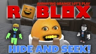 Annoying Orange Plays - Roblox: HIDE AND SEEK!