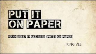ANN NESBY & AL GREEN -  PUT IT ON PAPER