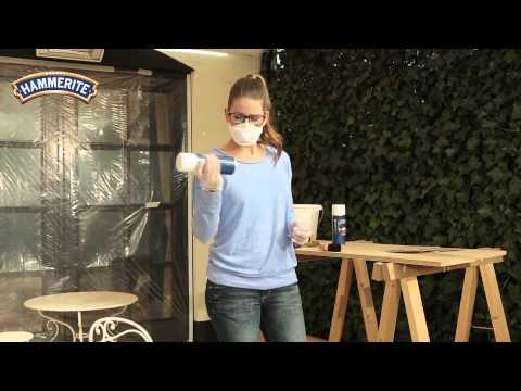 Metallobjekte mit Sprühdose lackieren - HAMMERITE Metall-Schutzlack Direkt auf Rost